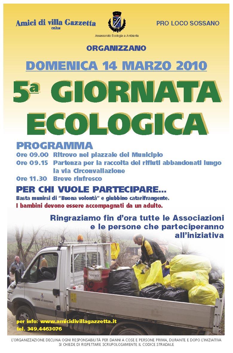 Locandina 5^ giornata ecologica