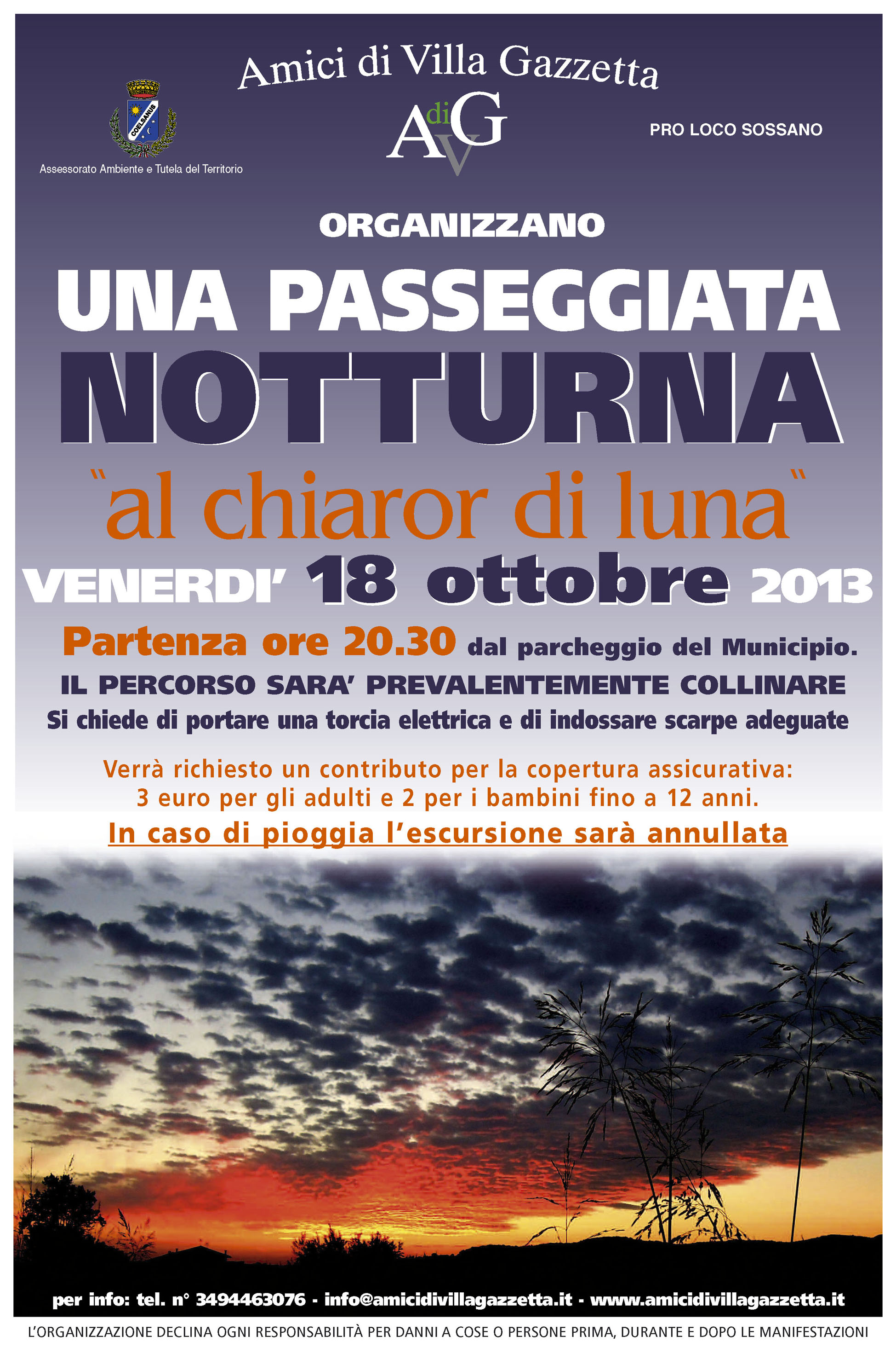 Locandina Notturna 18 ottobre